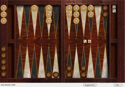 Click to view Absolute Acey Deucey Backgammon 6.1 screenshot